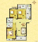 正商城3室2厅2卫128--129平方米户型图