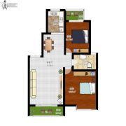 盛世观邸2室1厅1卫95平方米户型图