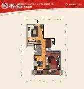 世纪锦城2室2厅1卫0平方米户型图