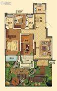 中海国际社区3室2厅2卫125平方米户型图