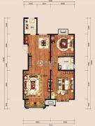 中冶世家2室2厅1卫96平方米户型图