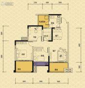 依城郡3室2厅1卫89平方米户型图