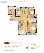 上海公馆3室2厅1卫107--109平方米户型图