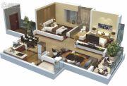 天润・新天地2室2厅1卫89平方米户型图
