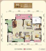 汉江新城3室2厅1卫0平方米户型图