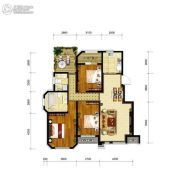 金地艺境3室2厅2卫112平方米户型图