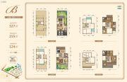 银泰红城五期逸墅327平方米户型图