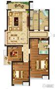 瀛海19城3室2厅2卫130平方米户型图