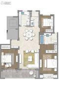 茉莉公馆3室2厅2卫147平方米户型图