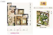 合景新鸿基泷景3室2厅2卫113平方米户型图