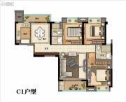 美好长江首玺3室2厅2卫123平方米户型图