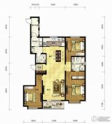 长春净月万科城3室2厅2卫166平方米户型图