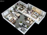 紫薇・睿纳时代3室2厅2卫115平方米户型图