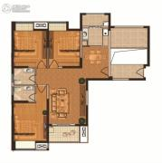 观山名筑3室2厅2卫129平方米户型图