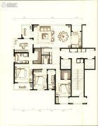 万科时代中心4室2厅3卫188平方米户型图