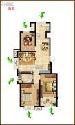 御山雅苑3室1厅1卫0平方米户型图