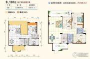 南兴盛世江南乾隆苑3室2厅2卫105平方米户型图