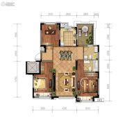 金地檀悦3室2厅2卫116平方米户型图