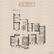 旭辉铂悦秦淮4室2厅2卫143平方米户型图