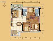 科恒岭南水岸3室2厅2卫90平方米户型图