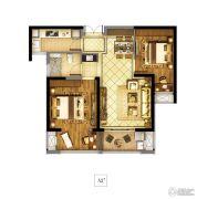 东方兰园2室2厅1卫83平方米户型图