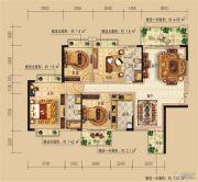 远辰龙湾名郡4室2厅2卫141平方米户型图
