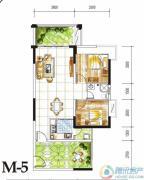 金碧丽江西海岸2室2厅1卫81平方米户型图