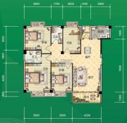 东和园4室2厅2卫124平方米户型图