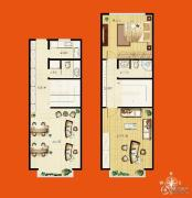 佳达生活广场2室1厅2卫58平方米户型图