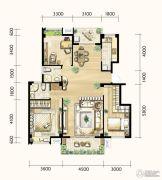 明发城市广场3室2厅2卫128平方米户型图