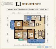 俊发盛唐城4室2厅2卫141--153平方米户型图