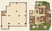 高科紫微堂4室2厅4卫347平方米户型图