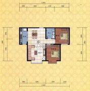 电力佳苑2室1厅1卫99平方米户型图