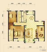 鸿坤・曦望山3室2厅2卫149平方米户型图