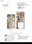 侨建・HI CITY3室2厅2卫71平方米户型图