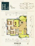 雍翠峰3室2厅2卫106平方米户型图