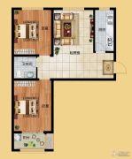 香榭丽都2室1厅1卫88平方米户型图