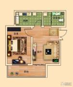 金河名都1室1厅1卫55平方米户型图