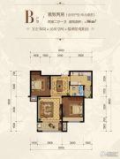 自游港港府2室2厅1卫0平方米户型图