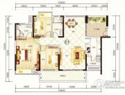 紫园3室2厅2卫138平方米户型图