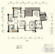 中锴・华章3室2厅2卫126平方米户型图