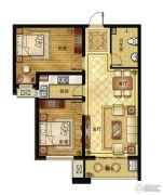 清山公爵城2室2厅1卫89平方米户型图