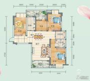 连山鼎府4室2厅2卫131平方米户型图