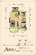 联发・君澜天地2室2厅1卫82平方米户型图
