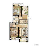 华润国际社区3室2厅2卫99平方米户型图
