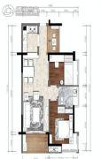 松湖豪庭2室2厅1卫0平方米户型图