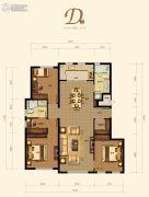融创城3室2厅2卫131平方米户型图