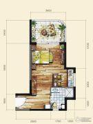 长岛蓝湾1室1厅1卫47平方米户型图