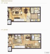 哈尔滨星光耀广场2室2厅2卫0平方米户型图