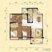 正升华府3室2厅2卫120--123平方米户型图